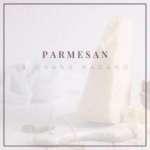 Parmesan und Grana Padano